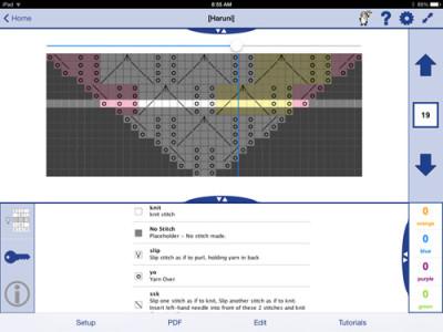 Knit Companion Chart and Key