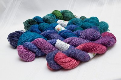 Unique Sheep gradient yarn set in greens, blues, purples and pinks