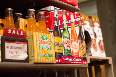 Old Fashioned Sodas in bottle