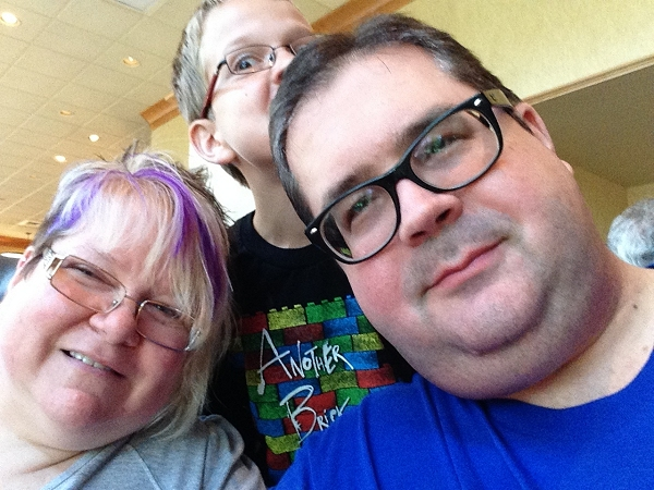 Family Selfie: Trish, Steven and John