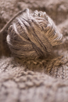 Little gray yarn ball
